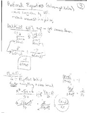 Rational Equations and Factoring Review