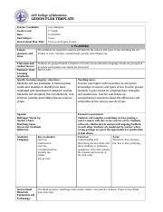 gcu lesson plan template