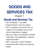 7 (Goods and Services Tax)[1]