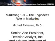 Marketing 101 – The Engineer's Role in Marketing