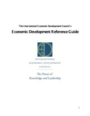 INTERNATIONAL ECONOMIC DEVELOPMENT COUNCIL REFERENCE GUIDE -IEDC_ED_Reference_Guide