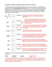 Handout on Nucleophiles, Electrophiles - Key