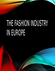 Fashion Industry in Europe (1).pptx