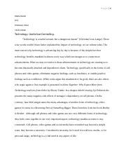 Turkle-McGonigal Essay