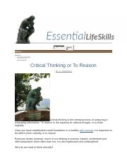 Week 2 Critical Thinking or to Reason Z. Hereford.docx