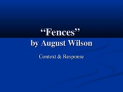 Context of Fences