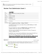Review Test 1 Submission Exam 1