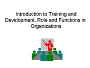 1. Introduction to Training and Development