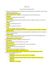 Med Aspects Exam I study guide