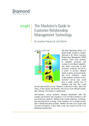 Marketers Guide to CRM Technology_Diamond