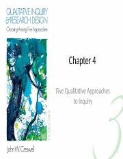 3. Five Qualitative Approaches to   Inquiry - Short.pptx