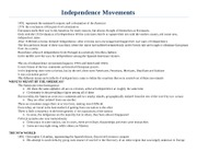 Review - Independence Movements