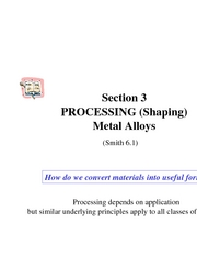 Section 3A Shaping Metals