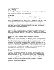 cover letter.. info. interview