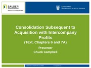 5. Consolidation Subsequent to Acquisition with Intercompany Profits(3)