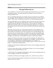 Ch 6 Mortgage Refinancing Case.doc