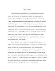 college essay about concerts