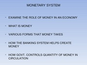 Lecture Slides Over Monetary System