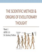Anth 110 Intro & Sci Method