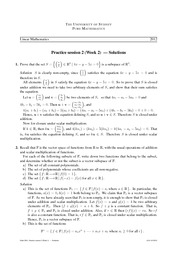 Practice Sheet 2 (Solutions)