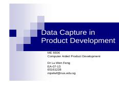 Lecture-Data Capture