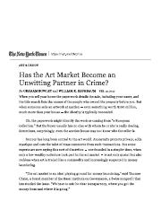 Has the Art Market Become an Unwitting Partner in Crime_ - The New York Times.pdf