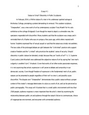 contribution sample Essay # 1