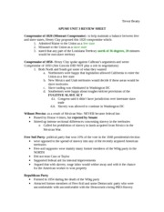 APUSH UNIT 3 REVIEW SHEET