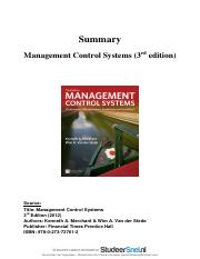 samenvatting-hele-boek-management-control-systems