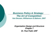 Strategic Management and Business Policy Chapter 7 Power Point