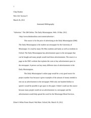 Writ 102 - Annotated Bibliography