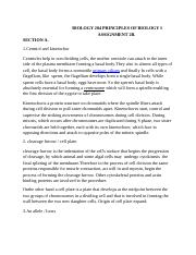 BIOLOGY 204 PRINCIPLES OF BIOLOGY I ASSIGNMENT 2B.docx