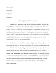 Max essay about a modest proposal#1