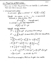 properties of estimaters notes
