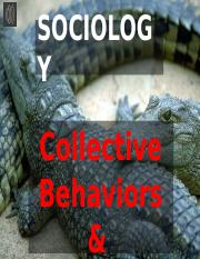 (16) Sociology--Collective Behaviors and Social Movements