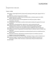 Management Exam 3 study Guide