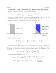 Joint random variable examples solutions