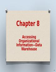 Ch 8 Data warehouses and Business Intelligence