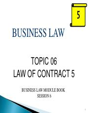 BUS115Jan2017_Topic 06 - Contract 5