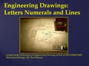 MECH2400 9400 Engineering Drawings Letters Numerals and Lines