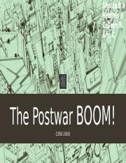 The Postwar BOOM! (1)