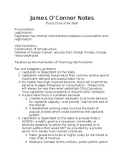 James O'Connor Notes 2