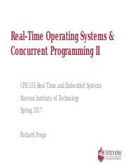 Lecture 6 Concurrent Programming - RTOS II