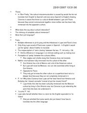 Essay1 thesis and notes