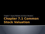 Chapter 7.1 Common Stock Valuation.pptx