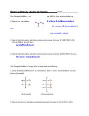 KEY Honors Chemistry Chapter 26 Practice.docx