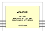 Personal Selling and Relationship Intro
