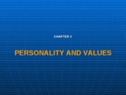 Personality and values chap3