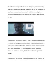Essay on Blade Runner