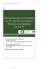 Lecture 20 - Maanasa's Research Presentation.pdf